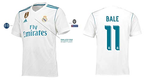 Real Madrid Trikot Herren Home UCL Final Kyiv 2018 - Bale 11 (XXL)