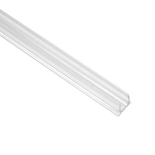 Novelty Lights 1/2 Rope Light Track, Mounting Rope Light, PVC Plastic, Clear, 4 Foot, 40 Pack