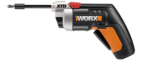 Worx WX252L 4V XTD Xtended Reach Cordless Screwdriver, Red