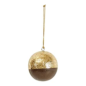 "Add to this year's tree for an extra special touch Include in a tabletop decoration for extra flare Hang on the handle of a cabinet 4""L x 4""W x 4""H"