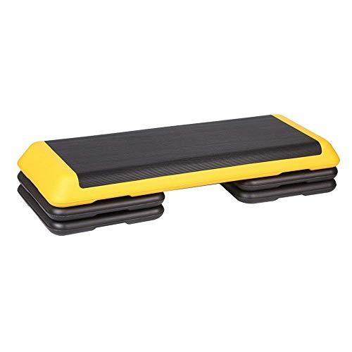 Aerobic Stepper 3 Niveles De Altura Ajustable Aerobic Step Indoor Gym Fitness Stepper Board con Superficie De Goma Antideslizante Mejora La Coordinación Plataformas De Pasos Entrenamiento Fitness INT