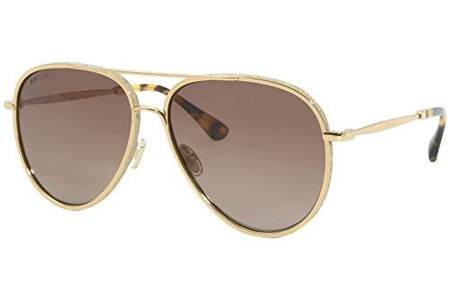 Jimmy Choo TRINY/S NQ Gafas, GOLD/BW MARRONE, 59 Mujeres