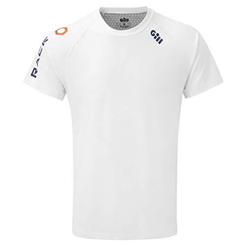 Gill Herren - Rennen-T - Shirt Spitze - Weiß - Leichte UV Protection und SPF Properties - Ultraleichte Technical