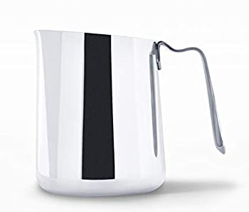 Fellow Eddy Steaming Pitcher - Milk Frother Pitcher with Fluted Spout Premium Barista Tools for Precision Latte Art 18/8 Stainless Steel Polished 18oz Jug
