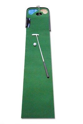 CEBEGO Golfset Complete,Golftraining Indoor Puttingmatte mit Putter & Golfmagnet
