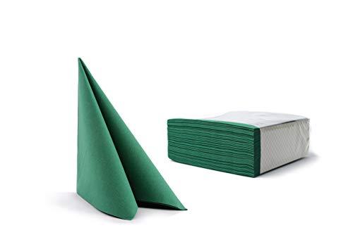 Alvotex CHIC Airlaid 50 Servietten, Stoffähnlich, Hochwertige, Einwegserviette, Grün, 40 x 40 cm