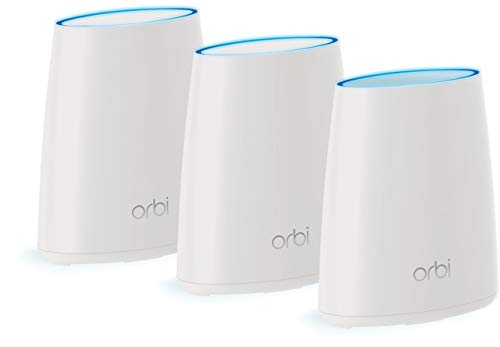 NETGEAR Orbi Whole Home Mesh WiFi System – 3 Pack Route r& 2 Mini satellite extenders RBK43 (Renewed)