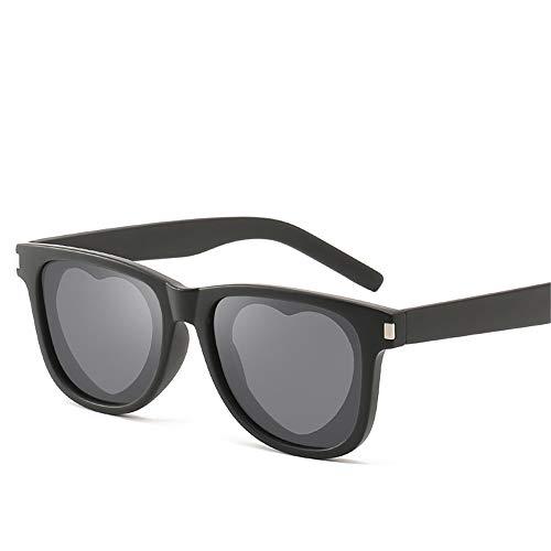 DURIAN MANGO Unisex Sonnenbrillen Square Frame Fashion Love Sonnenbrillen,Black