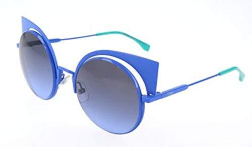 FENDI Sonnenbrille FF 0177/S 27f/Hl-53-22-135 Gafas de sol, Azul (Blau), 53 para Mujer