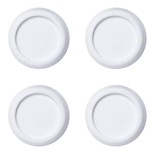 sossai® Pulsar - Waschmaschinen Schwingungsdämpfer | Vibrationsdämpfer | DSP | 4 Stück | Farbe: Weiß | Anti-Vibration | rutschfest