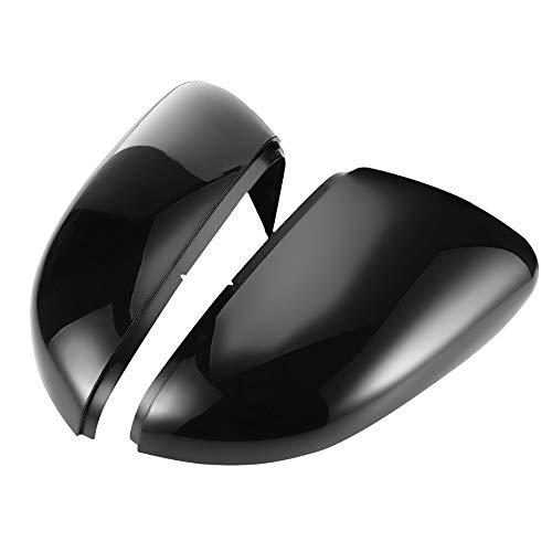 JUN-STORE SENMIAO-TH 2 Piezas De ala Lateral Espejo Cubre Los Casquillos For VW For Golf 6 / GTI R 6 MK6 R20 For Touran Par Retrovisor La Caja del Espejo Ajuste Casquillo Negro