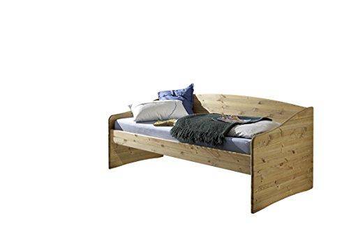 MeinMassivholz Bett Karin Kiefer - Kojenbett aus massivem Kiefernholz 90 x 200 cm, Made in Germany