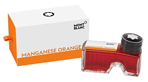 Montblanc Tintenfass Manganese Orange 119568 – Hochwertige Tinte in Orangerot im Tintenglas 30ml