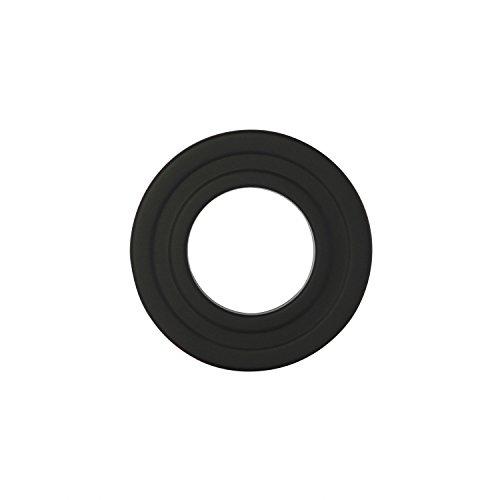 Kamino - Flam – Rosetón para tubo de chimenea, Acero rosetón conector para sistema de chimeneas, estufas, ventilaciones, Negro, Ø 80 mm