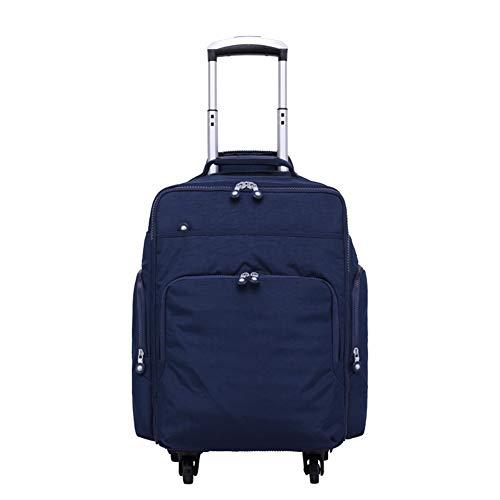 Mochila con ruedas, ligera e informal, de nailon, resistente al agua, para portátil de 14 pulgadas, equipaje de oficina