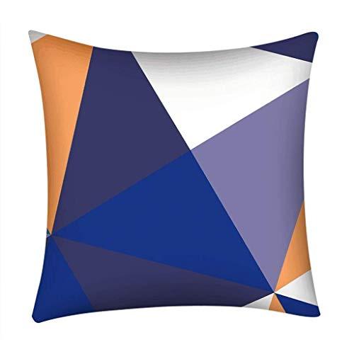 MUzoo 18x18 Zoll Moderne Einfache Stil Kissenbezug Dekoration Geometrische Muster Drucken Kissenbezug für Sofa Raum Café Wohnkultur (Color : A4)