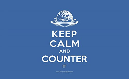 Keep Calm - And Counter It Blue Mana Mat Trading Card Playmat for Magic the Gathering and Force of Will Cards - By MAX PRO