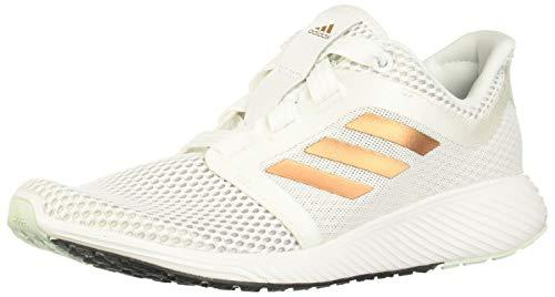 adidas Damen Edge Lux 3 W Laufschuh, FTWR White/Copper Met./Dash Green, 38 2/3 EU