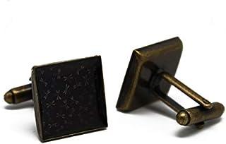 2 gemelli polsino bottoni resina Giappone libellule marrone nero ottone regalo personalizzato noel compleanno matrimonio o...