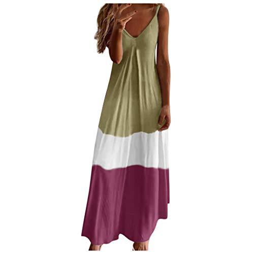 Festlich Tüllkleid Damen Sommerkleid Teenager Mädchen Hochzeitskleider Für Kinder Hemdblusenkleid Sommerkleid Damen Weiß Neckholder Kleid t-Shirt Kleider Damen Brautkleider(Braun,L)