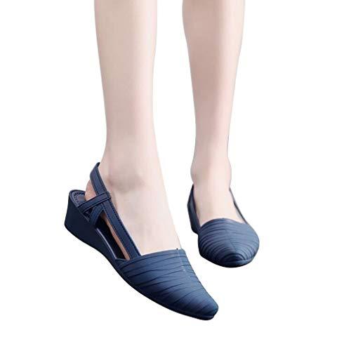 Hoge hakken Wiggen Puntschoenen Hoge hakken Sandalen Dames Zomer Modeschoenen Blauw 38