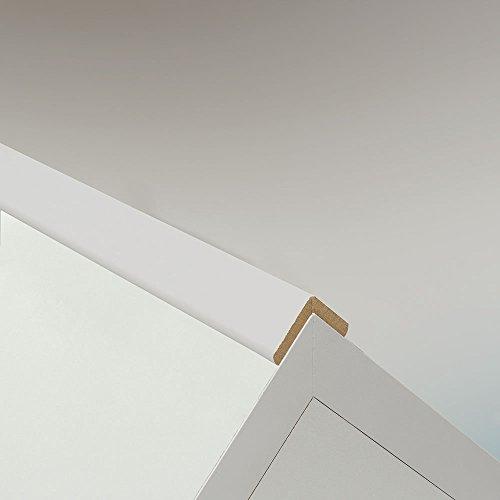 Winkelleiste Schutzwinkel Winkelprofil Tapeten-Eckleiste Abschlussleiste Abdeckleiste aus MDF in Weiß 2600 x 22 x 22 mm