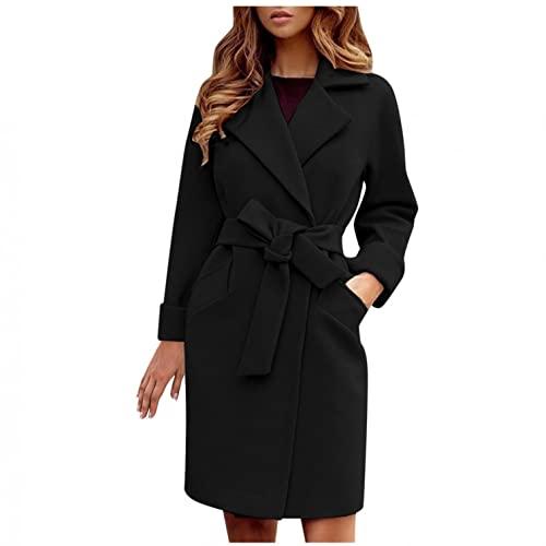 YIFANG Cappotto invernale da donna, invernale, caldo, giacca lunga, parka invernale