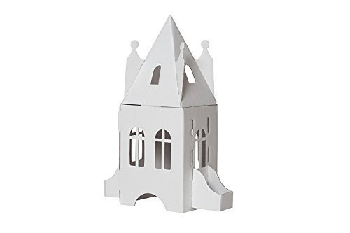 Bibabox | Das kleine Schloss aus Stabiler Pappe | Pappschloss | Bastelset | 100% Öko | 100% Made in Germany
