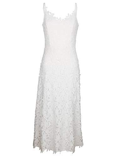 Alba Moda Strandkleid aus ausdrucksstarker Spitze Weiss