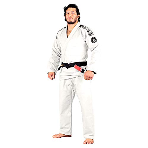 Bad Boy - Foundation BJJ Gi - Ultra Light Weight, 100% Rip Stop, Preshrunk, White Belt Included - (White - A1)