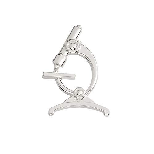 Medizinischer Schmuck Zahnmikroskop Laryngoskop Damen Reagenzgläser Neuron Rn Caduceus Brosche Pin Metall Abzeichen Broschen Pins Mikroskop Silber
