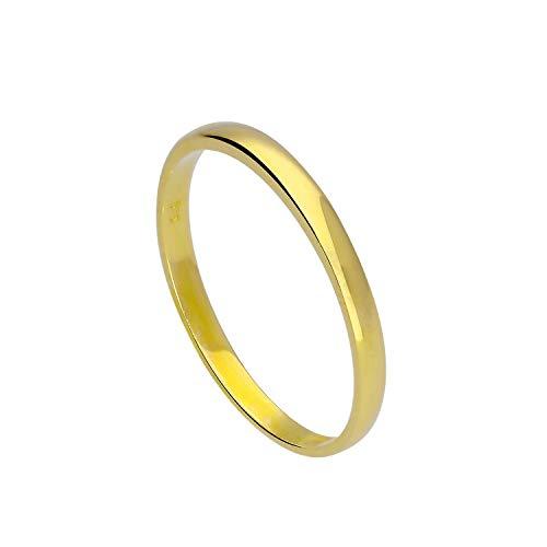 9ct Gold 2mm Wedding Band Ring Size O (Available I - U)