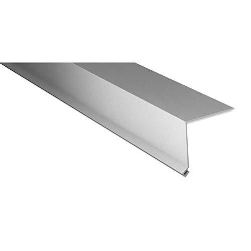 Traufenblech | Kantteil | 80 x 30 mm | 100° | Material Stahl | Stärke 0,63 mm | Beschichtung 25 µm | Farbe Weißaluminium