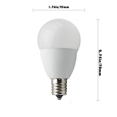 Ashialight 5W E17 LED Bulb, Daylight, Intermediate Base, AC 110v-130v,40 watt E17 Intermediate Base Light Bulb (Pack of 3)