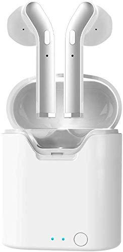 Auriculares Inalámbricos Bluetooth 5.0, Auriculares Inalámbricos HD Micrófono Estéreo In-Ear Auriculares Deportivo con Caja de Carga Portátil y Micrófono Integrado Compatible con iOS y Android