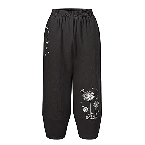 N\P Elegantes Pantalones Harem Pantalones de Primavera para Mujer Casual Cintura