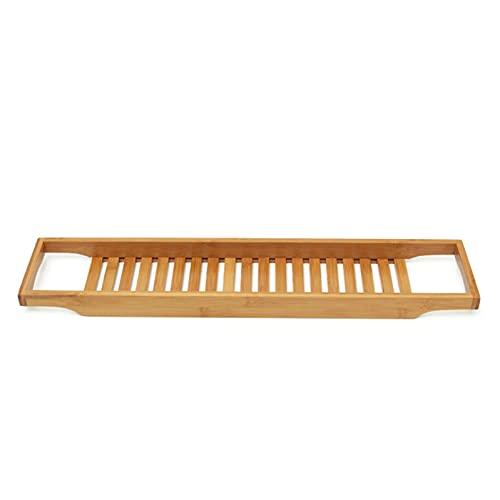 Wede Bandeja De Baño Premium Caddy De Baño De Bambú Natural para Mesa De Baño De Bañera Se Adapta A Todos Los Accesorios De Baño Todos Los Accesorios De Baño(Color:marrón)