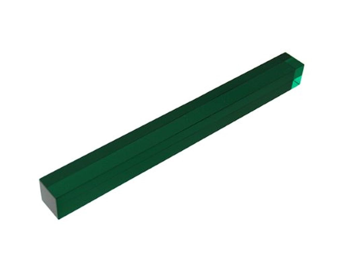 高い虚弱放出光 アクリル角棒 緑透明 18mm角×200mm AE087