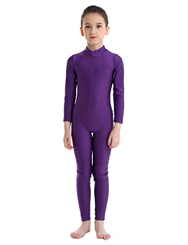 YiZYiF Kids Little Girls Boys Spandex Long Sleeve Full Body Unitard Skin Tight Dance Costumes