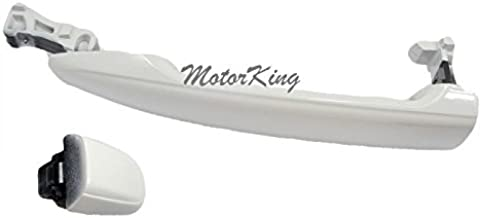 MotorKing UF1004-FRK-040 Door Handle (For 04-10 Front Right Outside W/O Keyhole Toyota Sienna Super White 040)