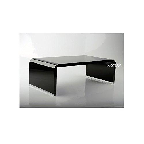 Faberplast TV-standaard, methacrylaat, zwart hoogglanzend, 70 x 30 x 12 cm