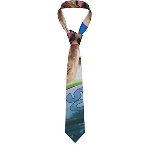Nature Green Plant Herren klassische formelle schmale Krawatte Casual Gentleman Anzug Krawatten für Hochzeit, Party, Büro, Business Gr. Einheitsgröße, Surfhund