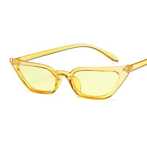 Gafas De Sol Mujer Gafas De Sol Negras Mujer Montura Pequeña Color Transparente Amarillo