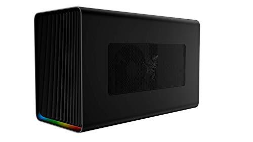 Razer Core X Chroma Aluminum External GPU Enclosure (eGPU) - [Compatible w/Windows & Mac Thunderbolt 3 Laptops][NVIDIA & AMD PCIe Support][700W PSU][4X USB 3.0, 1x Gbit Ethernet][Chroma RGB Lighting]