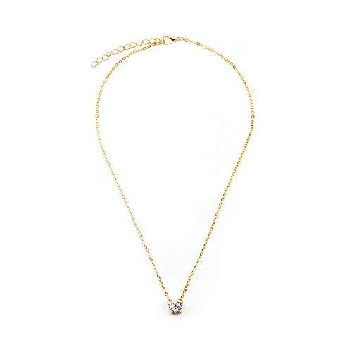 Brillante Zircon Invisible Transparente Línea Delgada Simple Gargantilla Collar Mujeres Joyería Collana Kolye Bijoux Collares Collier