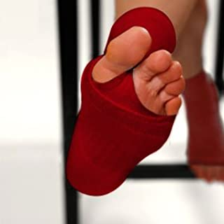 190e25eafb13f Amazon.com : Eco-Peekys (Poppy Red) - Pedicure Sock, Toeless, Yoga ...