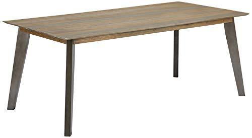 Ibbe Design Rechteckig Ausziehbar Esstisch 200x100 Natur Massiv Akazie Holz Esszimmer Tisch Malaga, L200xB100xH75 cm