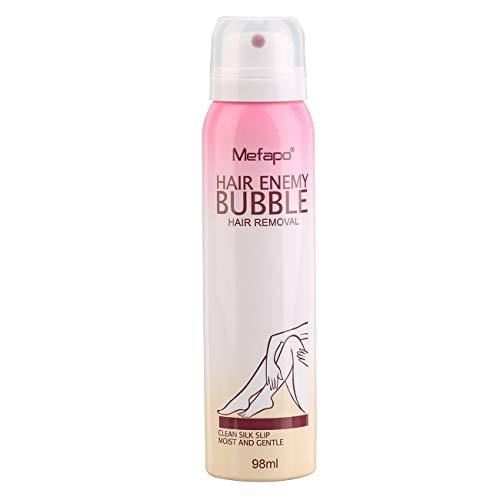 Crema depilatoria natural para hombres y mujeres sin dolor Depilación permanente Spray Gentle Bikini Depilatory Bubble (blanco)(JIO-S)