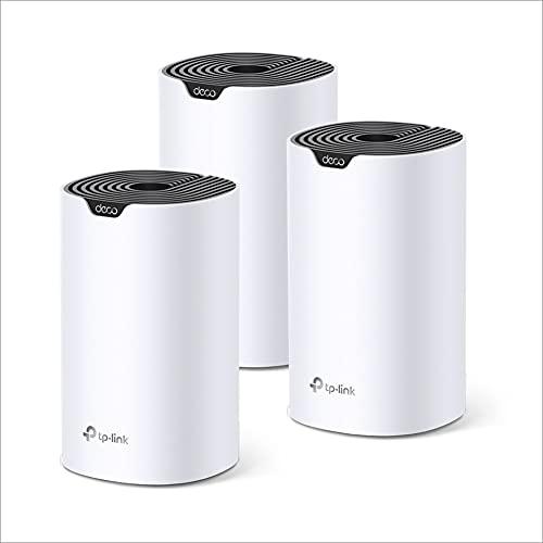 TP-Link Deco WiFi Mesh AC 1200Mbps Deco S4(3-pack) pour toute la maison, Couverture WiFi de 370㎡, remplacement de répéteur wifi, Ports Ethernet Gigabit, Compatible avec toutes les Box Internet