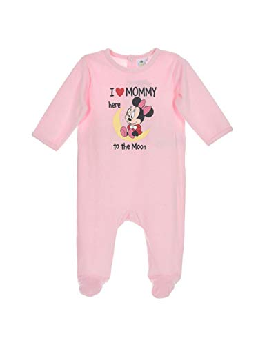 Minnie Pyjama Velours bébé Fille 'I Love Mommy Rose de 9 à 24mois - Rose, 24 Mois